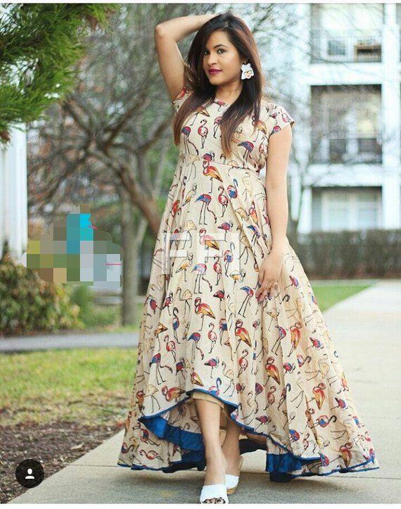 Indian designer trendinh summer Kalamkari outfit dress crop top skirt lehenga choli blouse saree anarkali embroidery fabric gown maxi blouse