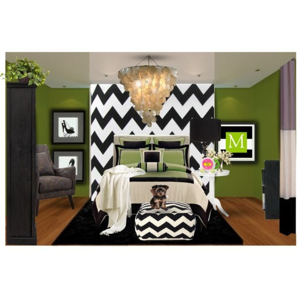 teen bedroom by tanyaf1 on polyvore rooms on polyvore pinterest beautiful zig zag wall. Black Bedroom Furniture Sets. Home Design Ideas