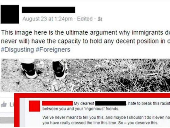 En Estados Unidos, un hombre posteó un meme racista sobre los inmigrantes. Y no sólo eso: sus amigos respondieron con comentarios igualmente llenos de intolerancia, en los que mencionaban lo horribles que son los inmigrantes para el país. Entonces, la madre del chico le dio la mejor respuesta.