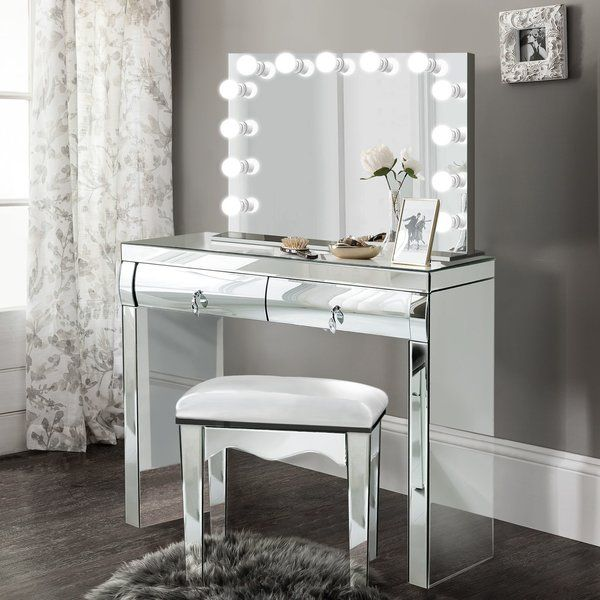 Tatianna Vanity Set With Mirror With Images Vanity Set With