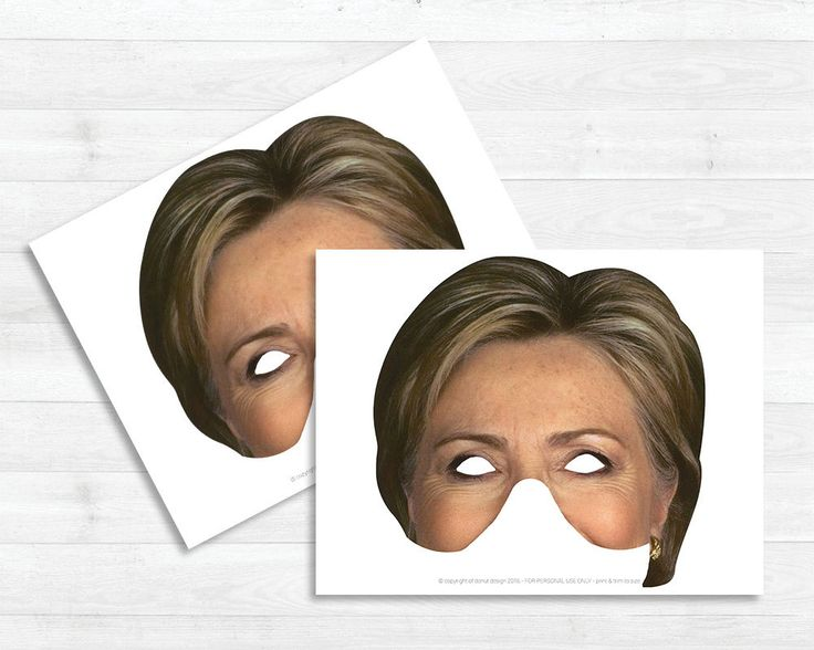 Printable Costume  Hillary Clinton . . . . . . . . . . . . . . . .  INSTANT DOWNLOAD  Includes:  - PDF sized 8.5x11 *High Resolution Files* Print as many times as you want! - as long as youre not selling it ;) . . . . . . . . . . . . . . . .  Instructions: 1) Print (cardstock is preferable) 2) Cut to size 3) Attach string  . . . . . . . . . . . . . . . .  Please Note:  ALL INSTANT DOWNLOADS WILL NOT BE ISSUED A REFUND  USER AGREEMENT: All designs are licensed for NONCOMMERCIAL USE only…