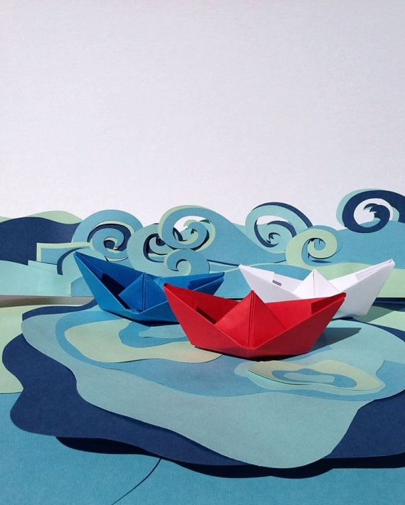 #Paper Boats Assorted Colors To Choose From. by Ruby Canoe Design #paperboats #paper