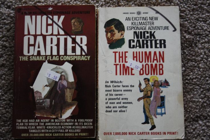 2 Nick Carter books from Killmaster Series by TheKindLady on Etsy