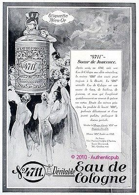 Publicité ancienne parfum 4711 Eau de Cologne 1930 AD