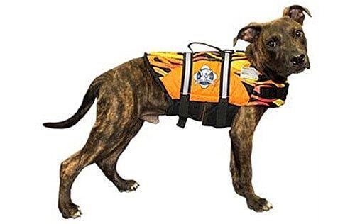 Racing Flames - Fido Dog Life Jacket - Dog Life Jackets - Dog life jackets for dogs of all sizes.