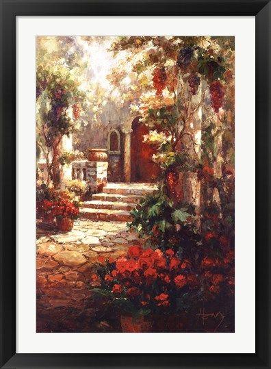 Courtyard+Romance+at+FramedArt.com