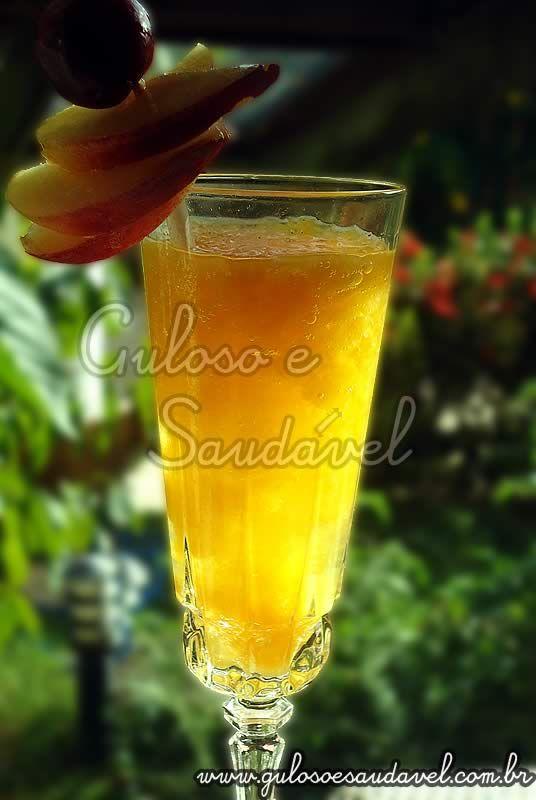 Drink de Pêssego e Cidra - sem Álcool » Bebidas, Receitas Saudáveis » Guloso e Saudável