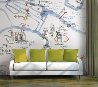 aquarelles / incréation • revêtement mural et papier peint sur mesure