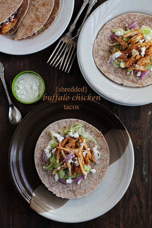 Savory Sundays: Shredded Buffalo Chicken Tacos