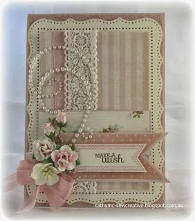 Beautiful vintage pink card