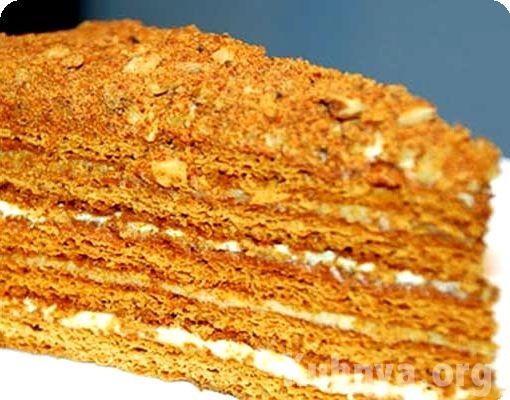 Медовый торт рецепт с заварным