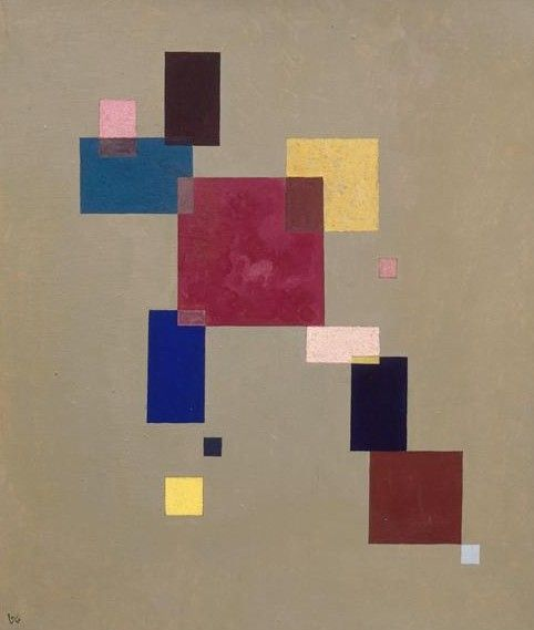 Painter Wassily Kandinsky. Painting. Three rectangles. 1930 year