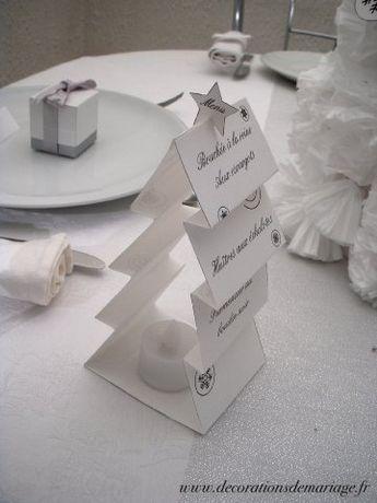 decoration table noel menu sapin