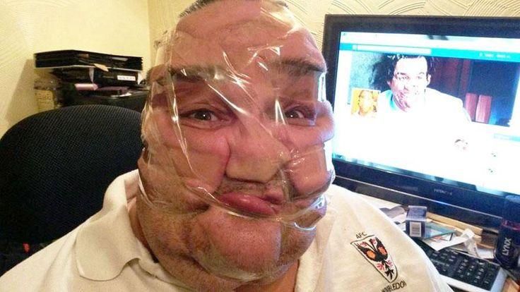 Weird Photos of Scotch Tapped Faces !!