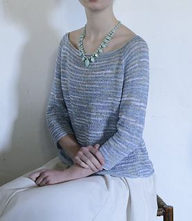 Ravelry: Silver-blue Pullover pattern by Yoko Hatta (風工房)