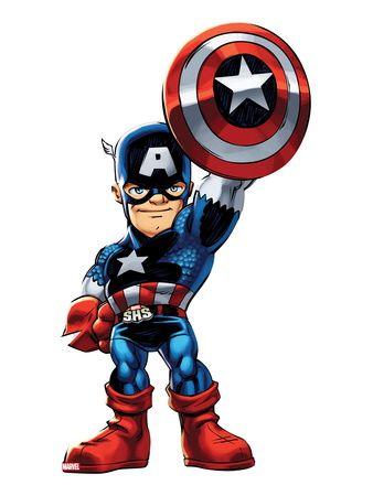 super hero squad captain america | Marvel Super Hero Squad: Captain America Standing Pósters en ...
