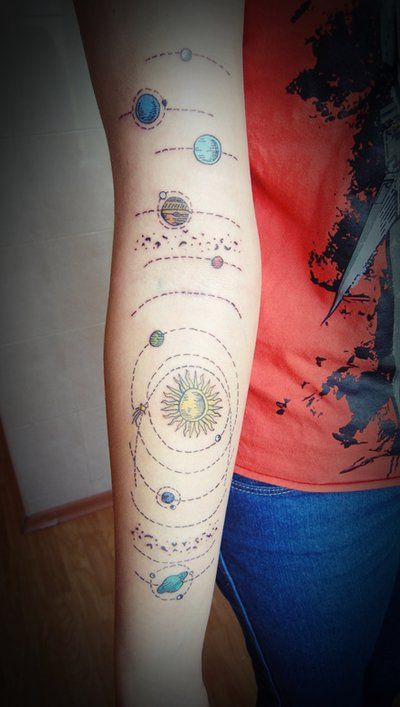 Solar system tattoo by mariedamn | Tattoos | Pinterest ...