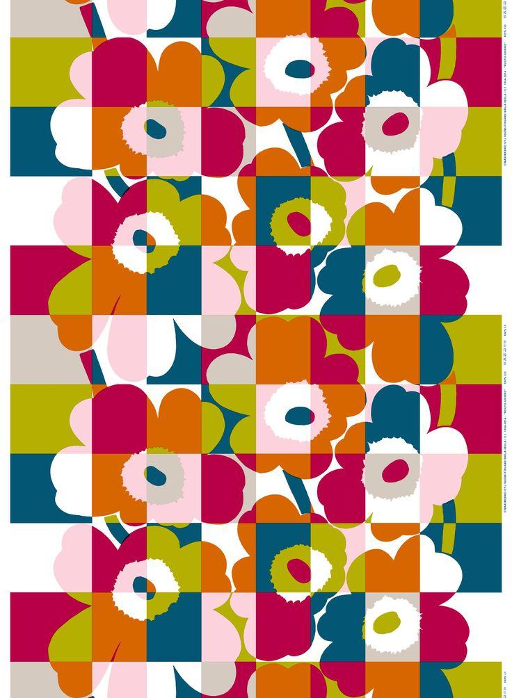 Marimekko fabric - Ruutu-Unikko