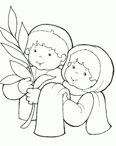 Palm Sunday Crafts Ideas For Kids Bible Coloring Pages