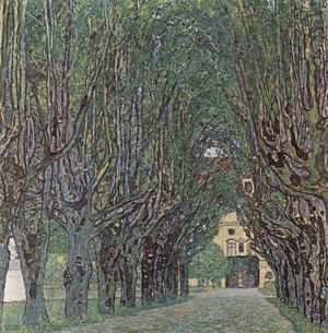 Avenue In Schlob Kammer Park  Gustav Klimt
