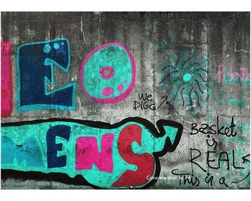 Surowy motyw graffiti. Ekskluzywne tapety http://esencjadesign.pl/tom-haga-concrete-wall/703-concrete-wall-nr-14.html