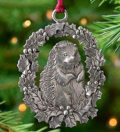 Hedgehog Pewter Ornament  $9.95   On Sale $6.99