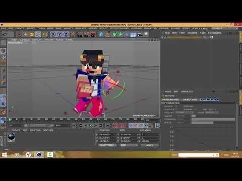 c4d minecraft skin edit