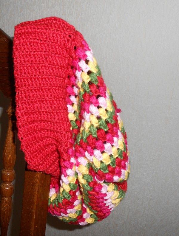saraspysselochbak.blogg.se - Virkad Puffmössa, Crochet puffhat