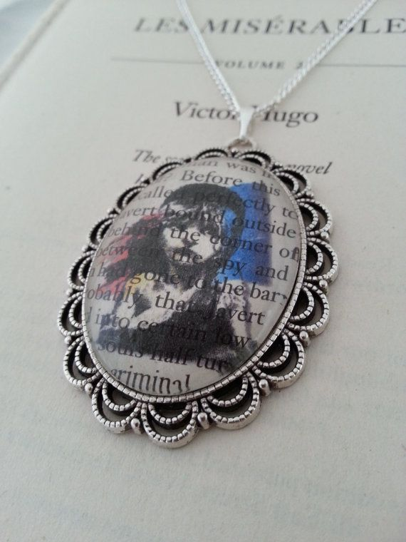 Les Miserables Book Page Necklace Cosette Illustration