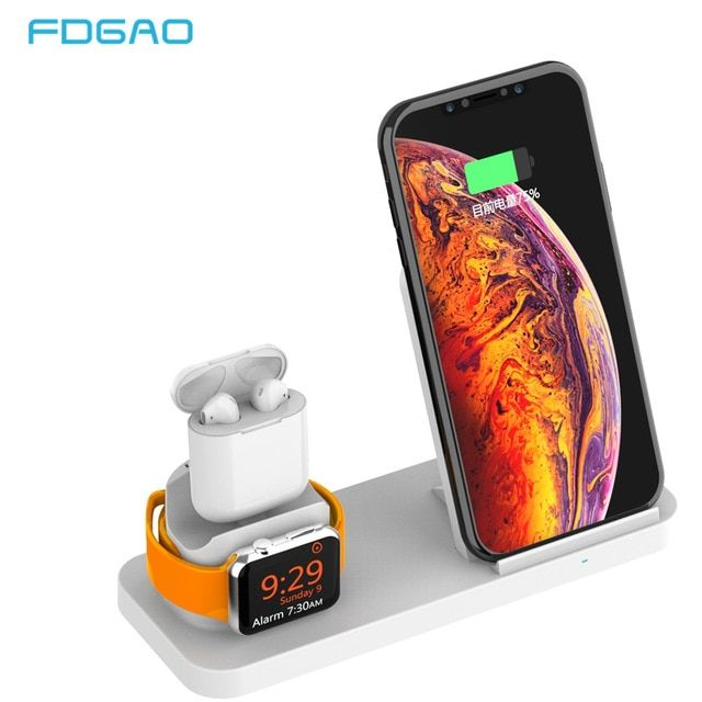FDGAO 10W Qi Wireless Charger For iPhone X 8 XS MAX XR Apple