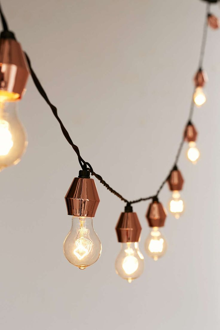 Rustic Metal String Lights : 246 best images about Light Bright on Pinterest Pendant lamps, Chandeliers and Pendants