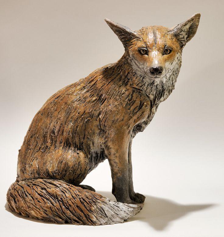 Ceramic Animal Sculptures | Fox Sculpture by Nick Mackman
