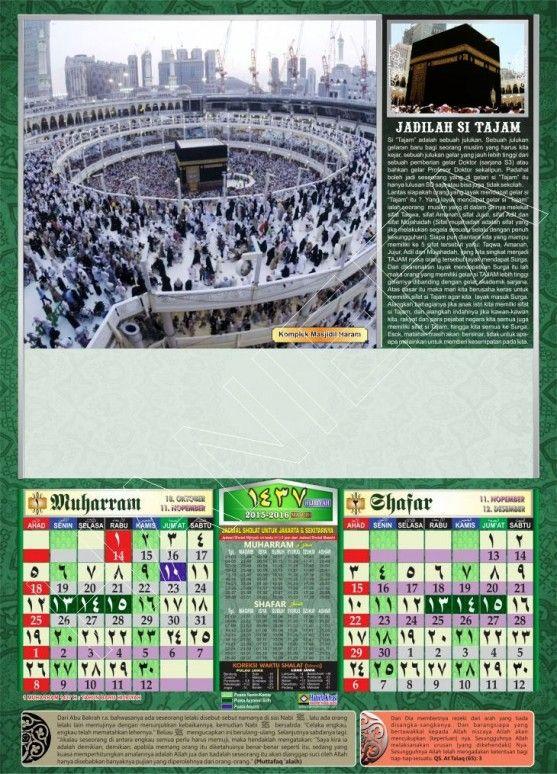 Kalender Hijriyah 1437 1-2 Muharram Shafar