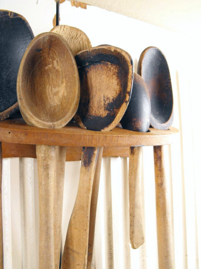 Antique Primitive Wooden Spoons