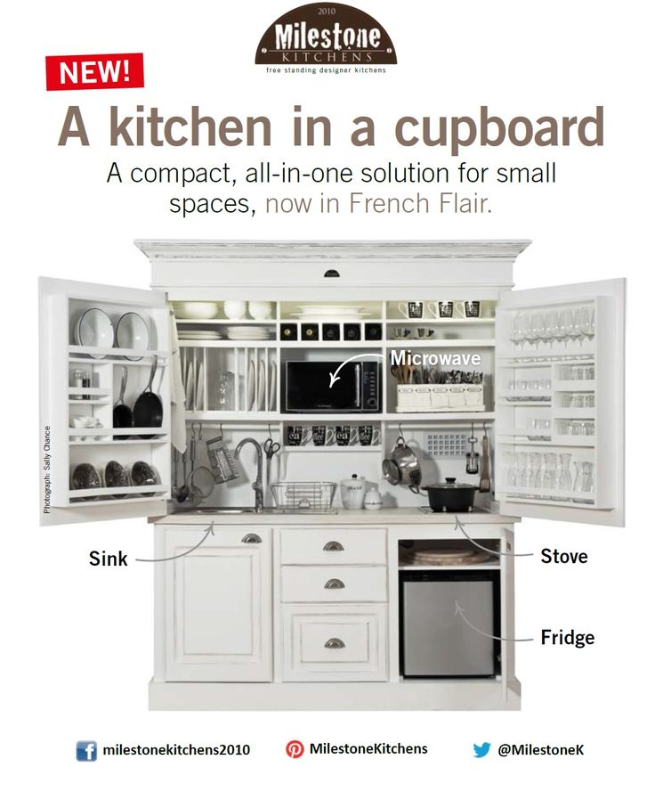 Milestone Kitchens has a special! Buy an entire kitchen and a cupboard for the price of one.