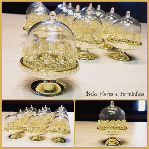 Mini cúpula para docinho decoradas somente para princesas!!! #festamenina…