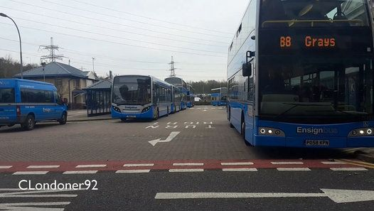 Buses at Lakeside Shopping Centre, Thurrock 3rd December 2015