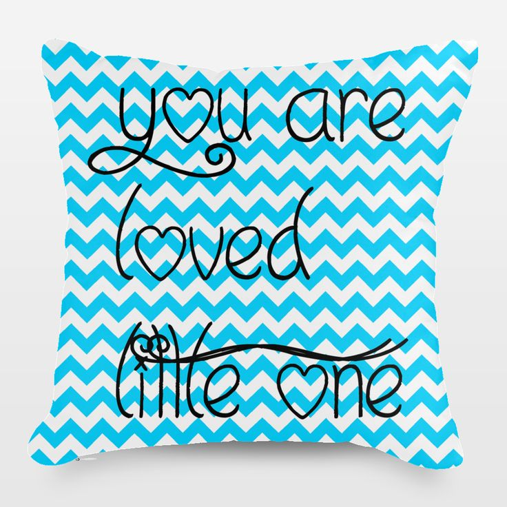 Shop for unique nursery art like the You are Loved little one Throw Pillow by haroulita on BoomBoomPrints today!  Customize colors, style and design to make the artwork in your baby's room their own!