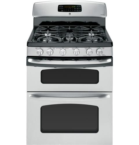 """Highest rated GE dual oven on consumer reports. JGB870SETSS 