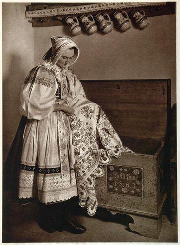 1953 Peasant Woman Folk  Vinicne Slovakia