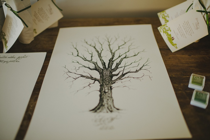 Our Guest book - Thumbprint Tree