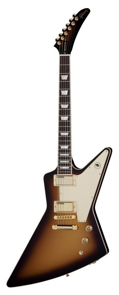 Gibson USA Bill Kelliher Golden Axe Explorer Gold Burst (looks like a kirk hammitt guitar)