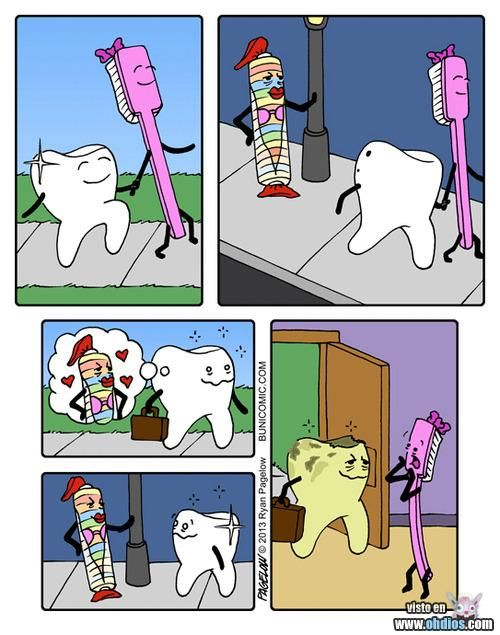 At the end you will always need your toothbrush.   This is real life!