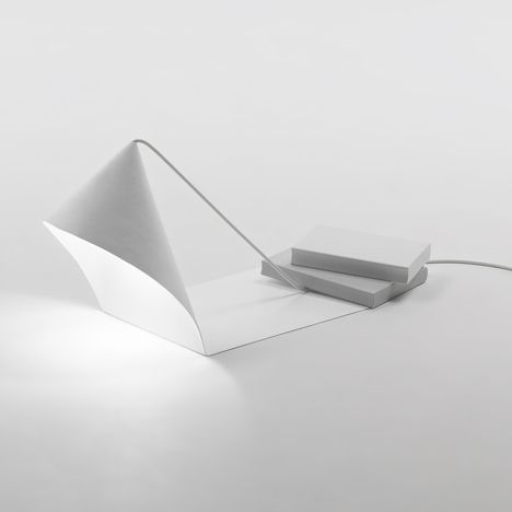 Object Dependencies Collection by Nendo   for Specimen Editions: Lamps, Art Products Design, Lights Fixtures, Nendo Object, Dependent Collection, Lights Design, Design Lights, White Table, Luminaire