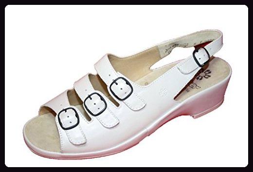 Ganter Carla 4-202721 Damen Schuhe Sandalen, Weite F (EU 40 2/3 UK 7, Weiss Perl) (7/40.5, Weiss) - Sandalen für frauen (*Partner-Link)