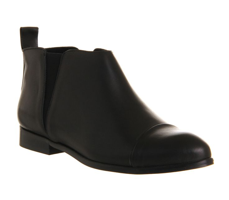 Office Minimialist V Chelsea Black Leather - Ankle Boots