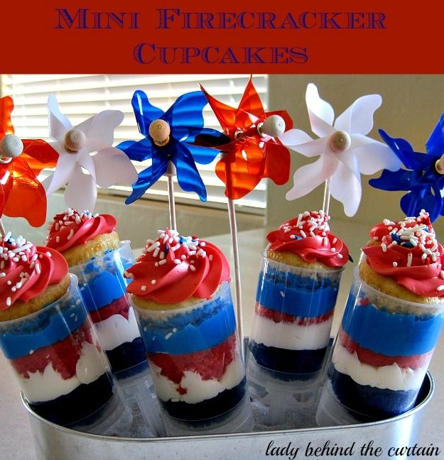 fourth of july mini cupcakes
