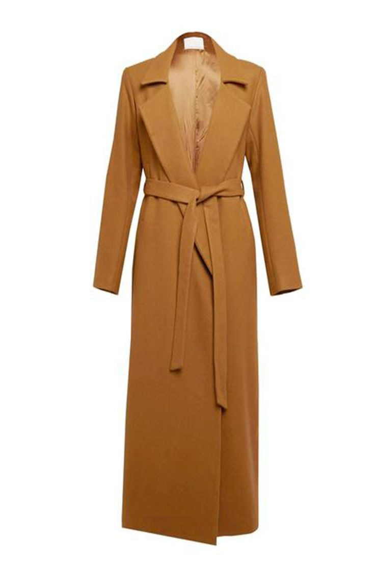 CHARLIE MAY Wool Duster Full Length Coat