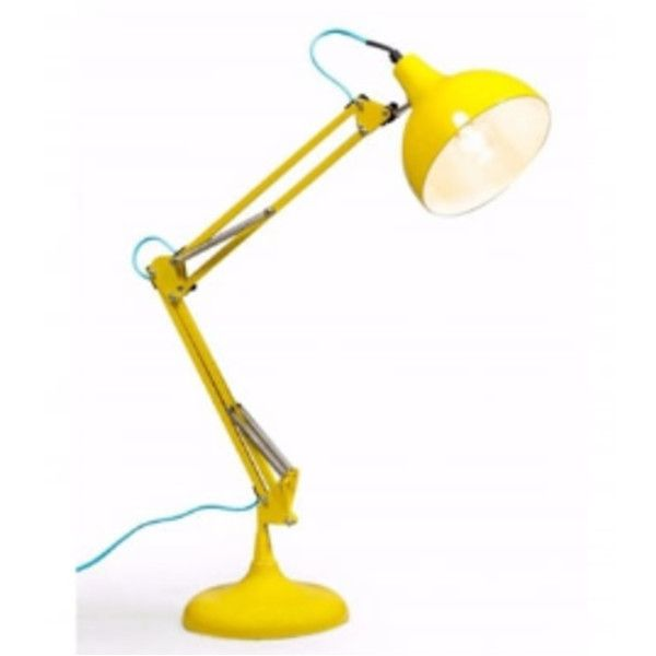 Yellow Traditional Desk Lamp (£58) ❤ liked on Polyvore featuring home, lighting, desk lamps, book lamp, flexible lamp, book lights, desk reading lamps and traditional desk lamp