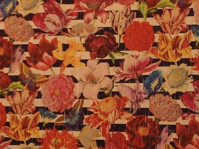 40 Fabulous Fabrics: Vintage floral with a new twist by Sahco.